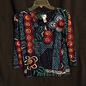 """CHICO""""S 3/4 sleeves tunic top size 1"""